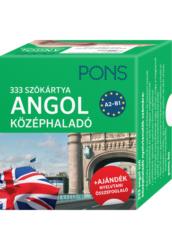 PONS Szókártyák ANGOL KÖZÉPHALADÓ A2 B1 333 Szó