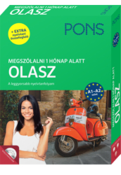 PONS Megszólalni 1 hónap alatt OLASZ  Könyv CD és ONLINE hanganyag