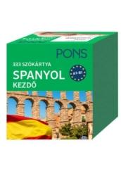 PONS Szókártyák Spanyol Kezdő 333 Szó