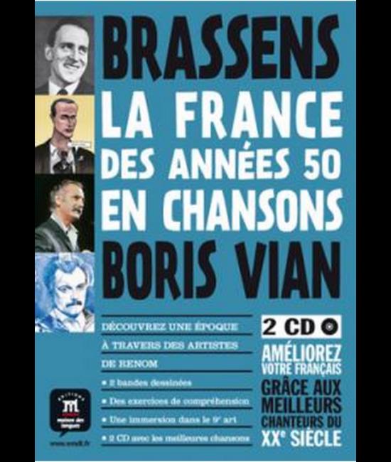La France des années 50 en chansons - Bande dessinée + 2 CD