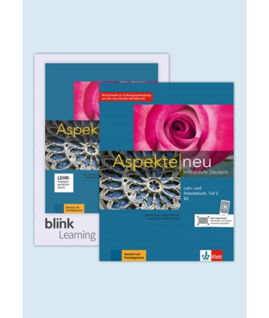 Aspekte neu B2 Teil 2 B2.2 Kurs-  und Übungsbuch Teil 2 mit Audios Videos inklusive